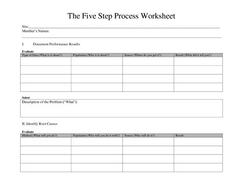 Step Five Worksheet 12 best images of writing process worksheets printable