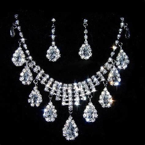 rhinestone for jewelry fashion rhinestone necklace earrings charm new set