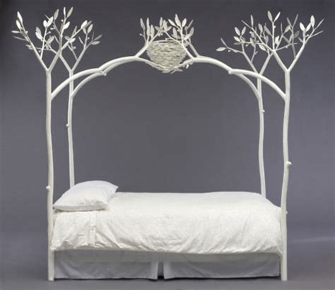 Forest Canopy Bed Frame White Tree Bed Eclectic Beds By Shawn Lovell Metalworks