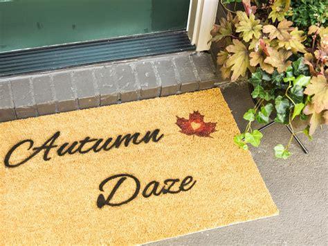 diy stenciled fall doormat hgtv