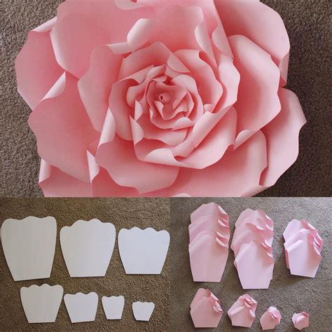 How To Make Big Flowers Out Of Paper - here are the templates that are used to make a beautiful