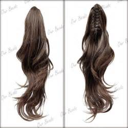 Wig Hairclip Ponytail Poni wowen curly wavy claw clip ponytail pony wigs hair extension ebay