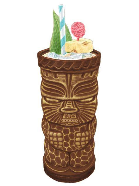tiki drinks and menu on behance