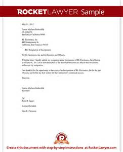 resignation of incorporator letter template with sample