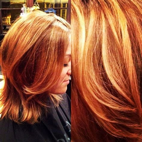 golden apricot hair color what do highlights in hair look like dark brown hairs