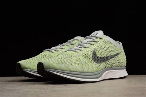 Nike Flyknit Racer Green 1 nike flyknit racer white cool grey ghost green for sale hoop