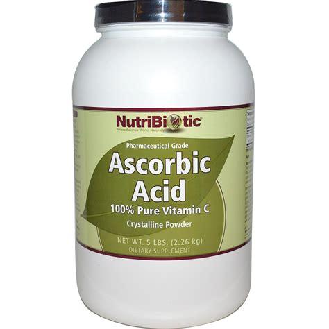 nutribiotic ascorbic acid 100 vitamin c