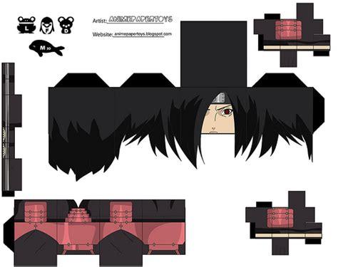 Boneka Anime Uchiha Sasuke imprim 237 recorta y arma tu propio mu 241 eco de de100