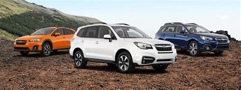 New Subaru 2018 Models by New 2018 Subaru Model Lineup Subaru Dealership In Tx