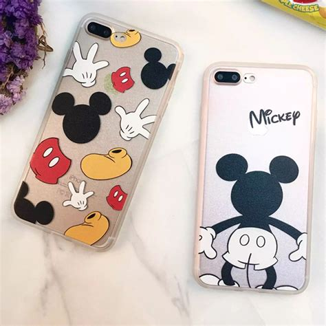 Iphone 7 Plus Peekaboo Minnie fundas coque phone cases for iphone x 8 7 6 6s plus mickey minnie mouse donald cover