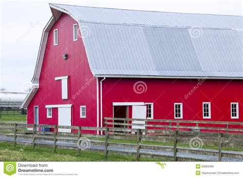 hip roof barn flickr photo sharing red barn on the farm stock photo image 52683483