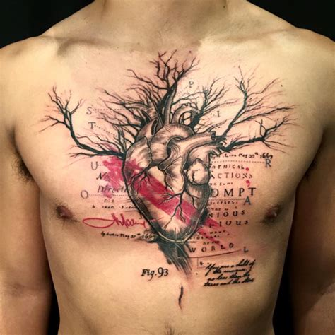 chest tattoo heart surgery lu p