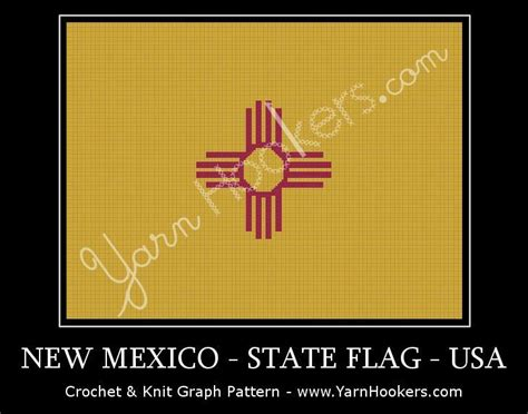 Pattern Joger Hnm For Original 4 new mexico state flag usa graph by yarnhookers craftsy