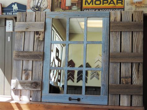 home interior pictures wooden shutter mirror ebay coastal flair new rustic farmhouse reclaimed barn wood shutters for 9
