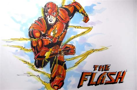 Flash Marvel by Dc Marvel Comics Series The Flash Time Lapse Drawing