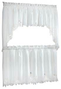 Battenburg Lace Kitchen Curtains Battenburg Lace White Kitchen Curtain 36 Quot Tier Traditional Curtains