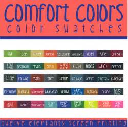 comfort colors color chart impressive comfort colors shirt colors 6 comfort color