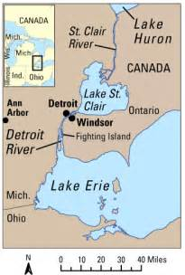 detroit and canada map lake whitefish returning to the detroit river to spawn
