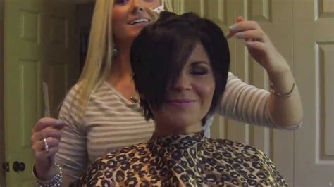 Haircut To A Beautiful Brunette Pixie Youtube | haircut to a beautiful brunette pixie youtube