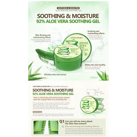 Nature Republic Aloe Vera Soothing Gel Korea nature republic aloe vera soothing gel