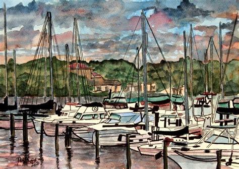 nautical painting watercolor paintings art by derek mccrea sailboat