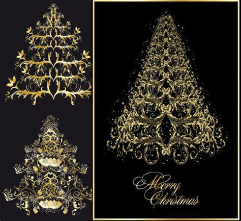 christmas tree pattern vector 4 designer classic european pattern christmas tree vector