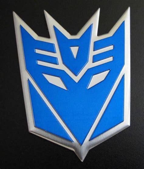 Sticker Alumunium Transformers Pattern Decepticon sell transformers decepticons logo aluminium grille fender emblem badge decal blue motorcycle in