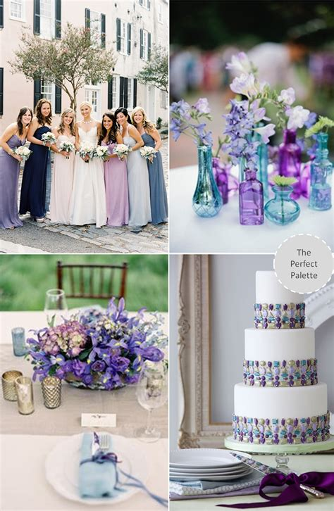 now trending purple blue weddings blue purple