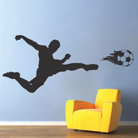 soccer wall sticker soccer wall decal sport mual stickers trendy