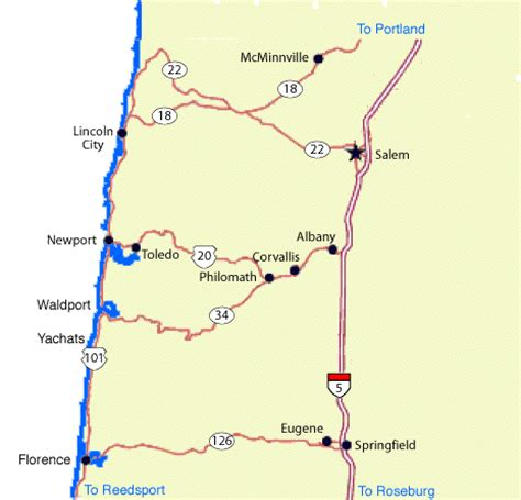 map of yachats oregon coast cove inn how to find us easily