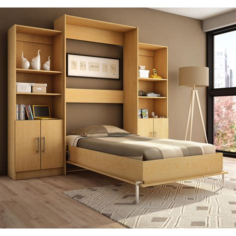 stylish bunk beds furniture modern size wood horizontal murphy bed with desk and cabinets modern murphy