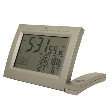 radio controlled desktop tabletop alarm clock temperature date week month large ebay