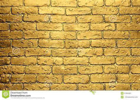 Concrete Block Floor Plans Golden Brick Wall Background Stock Image Image 51894281