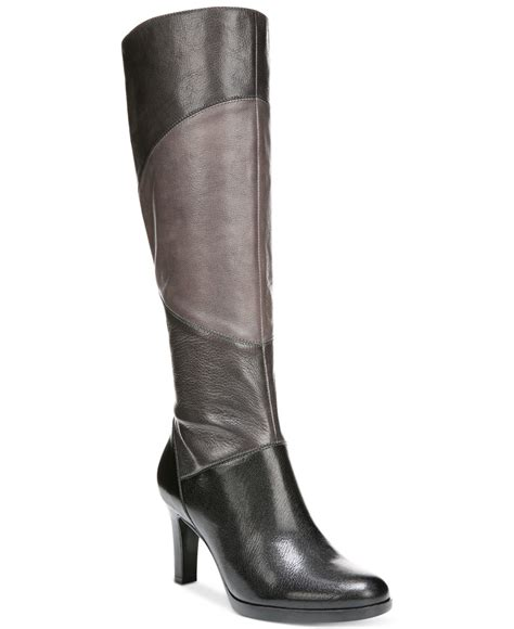 grey wide calf boots naturalizer analise wide calf boots in gray lyst