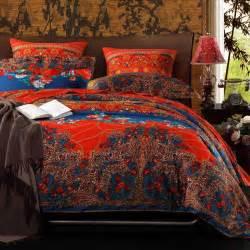 Bedding Sets Bohemian Purple And Peacock Blue Tribal Print Bohemian