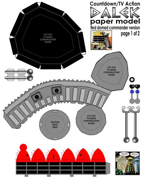 Dalek Papercraft - paper comic style dalek pt1 by gfoyle on deviantart