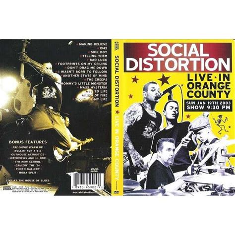 social distortion live in orange county dvd for sale on