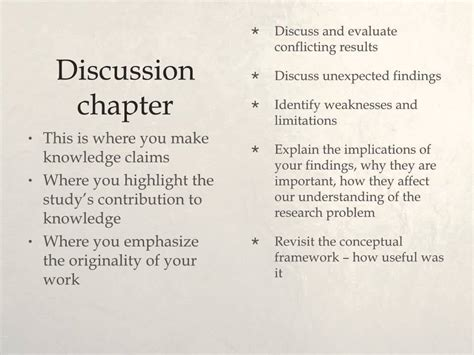 discussion of dissertation results discussion conclusion chapters