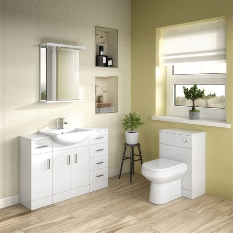 Premier Bathroom Furniture Premier Mayford Storage Unit Prc172 250mm White