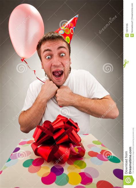 Gift Cards For Young Men - happy young man celebrating birthday royalty free stock photo image 18870185