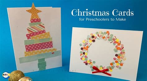 christmas cards ideas preschool cards for preschoolers to make kidz activities