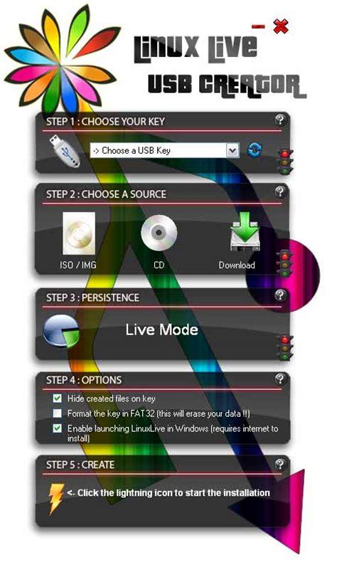 usb linux linux live usb creator lili from windows usb pen drive