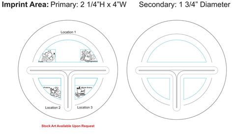 Portion Template custom portion plate 10 quot usa made eco promotional products environmentally and socially