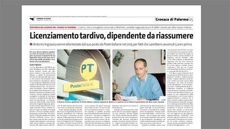 sede legale poste italiane poste italiane condannata a reintegrare il dipendente
