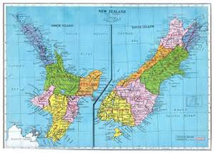 large detailed administrative map of new zealand 1949