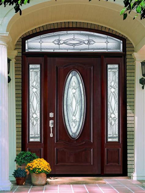 glass lighted door sweet brown wood lighted masonite entry doors design