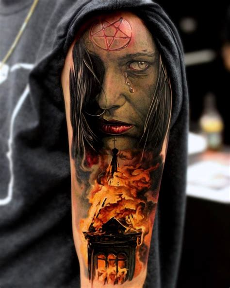 tattoo burning satanic burning church churches