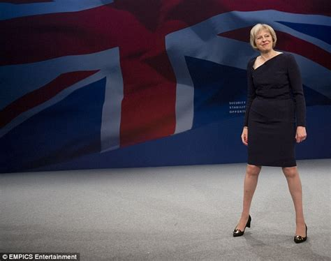 Dress Teresia 1 theresa may at the conservative conference in a