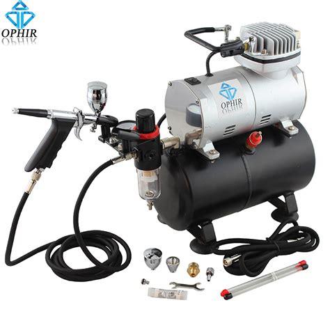 spray painter for air compressor ophir 110v 220v air tank compressor with airbrush kit