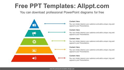 Pyramid Ppt Template by Smart Pyramid Powerpoint Diagram Template
